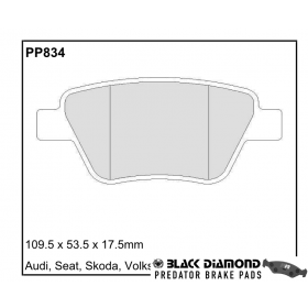 Black Diamond Predator Brake Pads Audi A1 Rear Set
