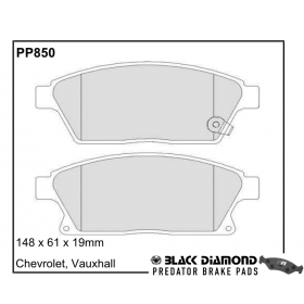 Black Diamond Predator Brake Pads Vauxhall Astra Front Set
