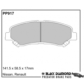 PP917 Black Diamond Predator Brake Pads