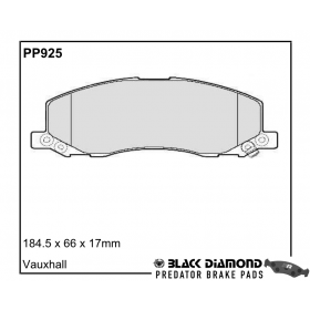 Black Diamond Predator Brake Pads Opel Insignia Front Set