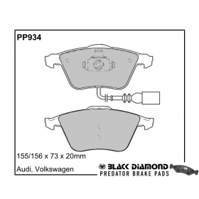 Black Diamond Predator Brake Pads Audi TT Front Set