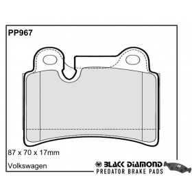 Black Diamond Predator Brake Pads VW Touareg Rear Set