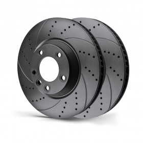Rotinger Brake Discs Jaguar XF XJ XK Front Drilled & Grooved